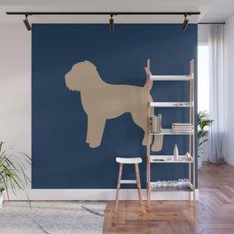 Wheaten Terrier (Navy/Tan) Wall Mural