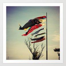 Fish Flags Art Print