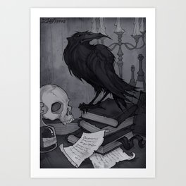 Once upon a Midnight Dreary Art Print