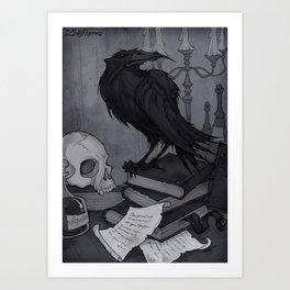Once upon a Midnight Dreary Kunstdrucke