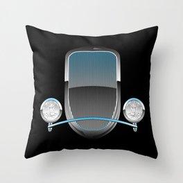 1930s Style Street Rod Car Grill Throw Pillow