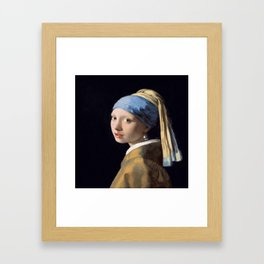 Vermeer, Girl with a Pearl Earring,Meisje met de parel,La joven de la perla Framed Art Print