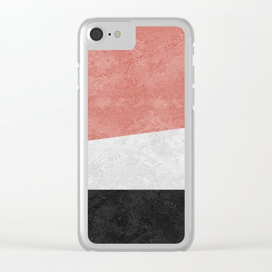 MARBLE 001 Clear iPhone Case