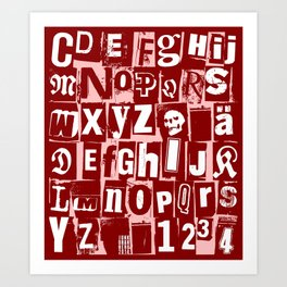 Ransom Letters Art Print
