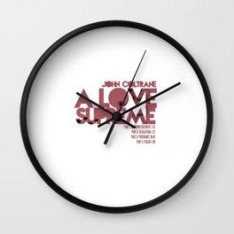 A Love Supreme - John Coltrane / Album Cover Art LP Poster  Wall Clock