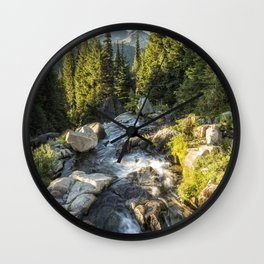 Top of the Morning at the Top of Myrtle Falls Wall Clock