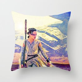 Rey Solo Destroyer - The Force Awakens Throw Pillow