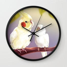Budgie and Cockatiel Wall Clock