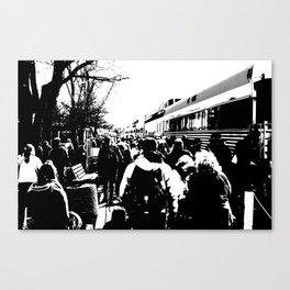 ALL ABOARD! Waiting to get on the Train! Canvas Print