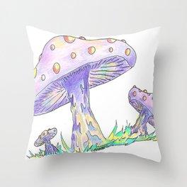 Shroom Rainbow II Throw Pillow