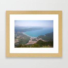 The Gulf of Gökova and Akyaka Town Framed Art Print