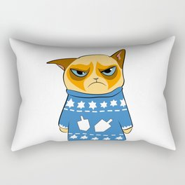 Ginger Cat in Holiday Sweater 03 Rectangular Pillow