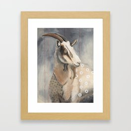 Goats Are Nuts Framed Art Print