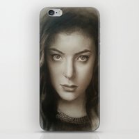 lorde iPhone & iPod Skins featuring Lorde by David Nash
