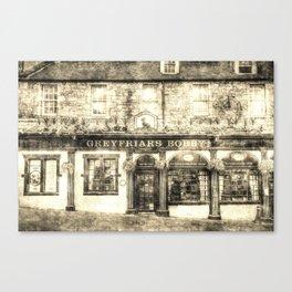 Greyfriars Bobby Pub Edinburgh Vintage Canvas Print