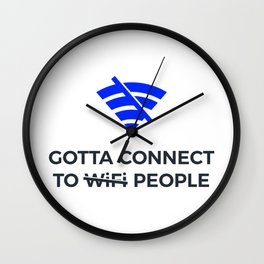 Connect to People Not Wifi Human Touch Connection Wall Clock