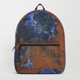Grunge Colorful Abstract Texture Print Backpack