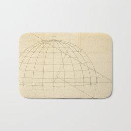 Jérôme Lalande's Astronomie (1771) - Geometric Calculations regarding Planetary Bodies 6 Bath Mat