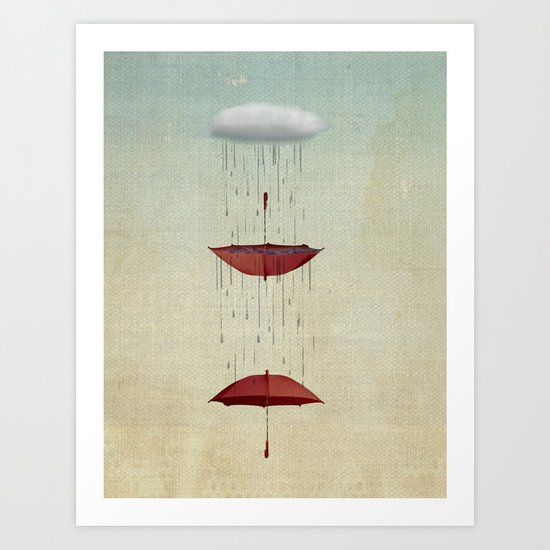 the umbrella runneth over and over Art Print