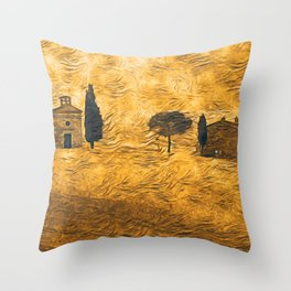 The Rolling Hills of Tuscany Throw Pillow