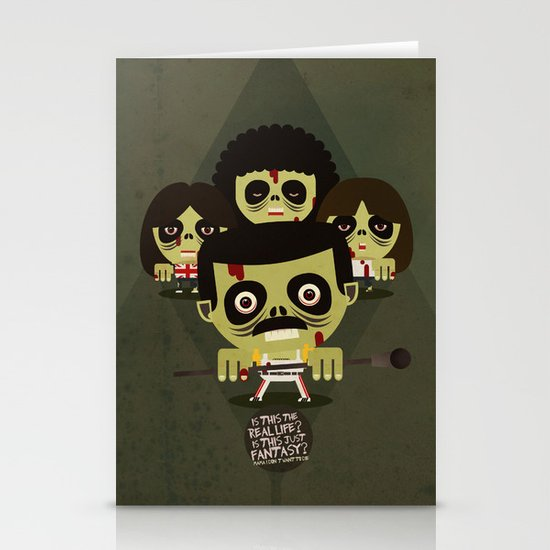 queen zombies Stationery Cards