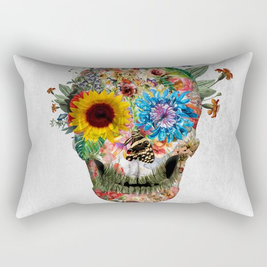 Skull - Punks Not Dead II Rectangular Pillow