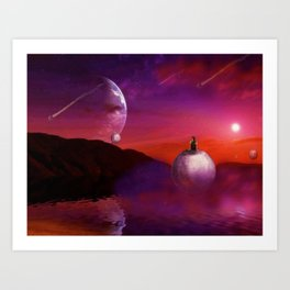 Spherical Thinking Art Print