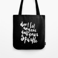 sparkle Tote Bags featuring Sparkle by Evelyne van den Broek