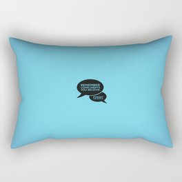 Sunscreen / Remember compliments Rectangular Pillow