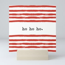 red stripes-ho ho ho Mini Art Print