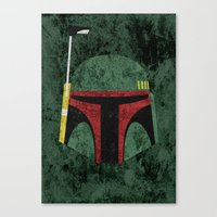boba fett Canvas Prints featuring Boba Fett by Some_Designs