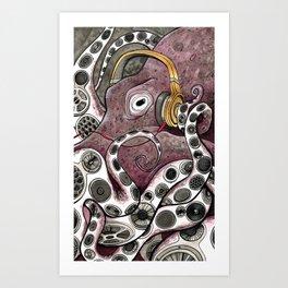 Hip Hip Octopus Art Print