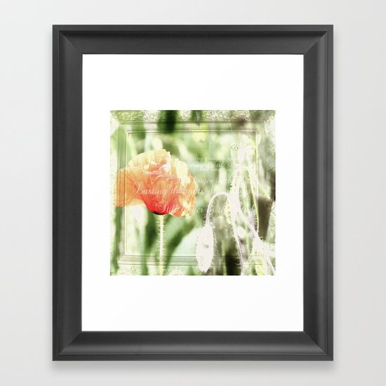 Lasting thoughts of summer Framed Art Print