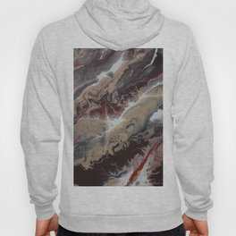 Neutral Black, Red and Brown Painting - Schism Abstract Hoody