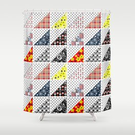 Multi-colored patchwork Shower Curtain