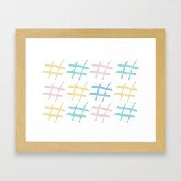 Hashtag pastel palette Framed Art Print