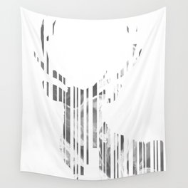 Geometric black Stag Wall Tapestry