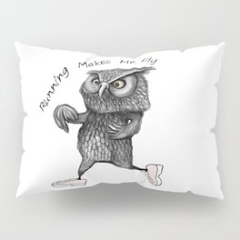 Running owl Pillow Sham