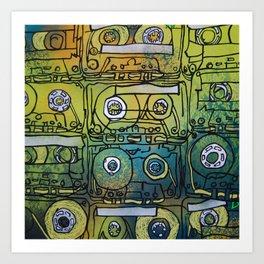 cassette tapes Art Print