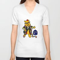 pooh V-neck T-shirts featuring Doctor Pooh by Murphis the Scurpix