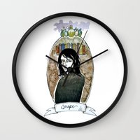snape Wall Clocks featuring snape by hille