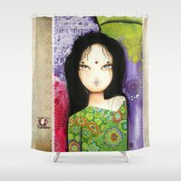 indian Shower Curtains featuring Indian by ByCabotine