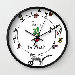 Turnip For What Wall Clock