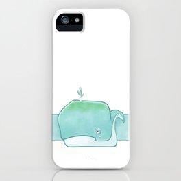 Sad sad whale iPhone Case
