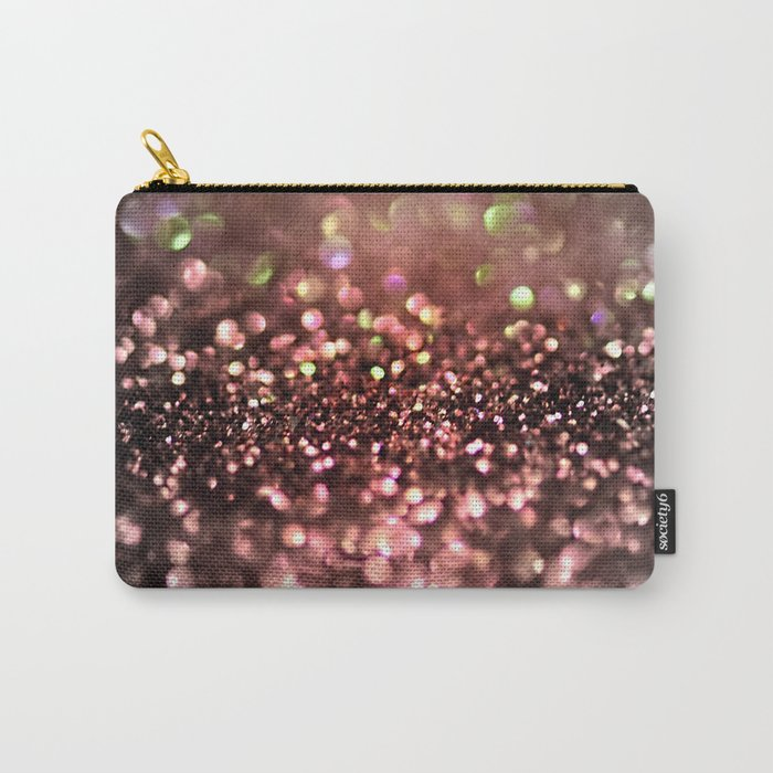 Copper grey and black shiny glitter print - Sparkle Luxury Backdrop Carry-All Pouch