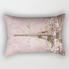 romantic Paris Rectangular Pillow