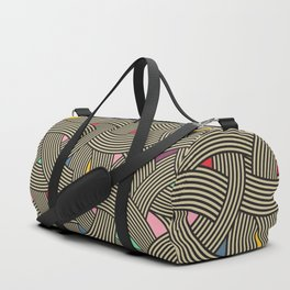 Modern Scandinavian Multi Colour Color Curve Graphic Duffle Bag