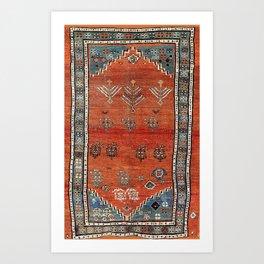 Bakhshaish Azerbaijan Northwest Persian Carpet Print Art Print