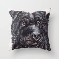 seal Throw Pillows featuring Seal by Mona Figueira