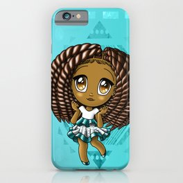 Adorable African American Girl iPhone Case